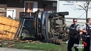 Witnesses amazed no one died in a Kelowna rollover crash during morning police pursuit