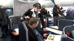 WestJet Dreamliner lands in Calgary
