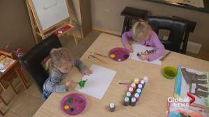 Young artists sell paintings to support veterans