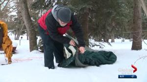 Edmonton's 'freezing father' begins annual camp-out in daughter's memory