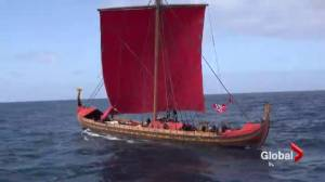 """""""Expedition America,"""" viking ship makes stop in Quebec City"""