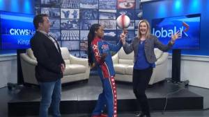 The Harlem Globetrotters' Champ Thompson visits Global News Morning