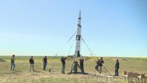 Saturn V rocket model launched in southern Alberta to celebrate moon landing