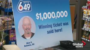 Kelowna convenience store celebrates selling $1 million ticket