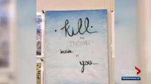 'Kill the Indian inside of you': Snapshot of student artwork in Calgary causes uproar online