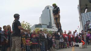 """""""Hoppy"""" Canada Day from the Xpogo Stunt Team"""