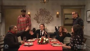 Matt Damon and Leslie Jones debate Weezer's music in SNL sketch