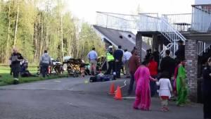 Deck collapse during Langley wedding injures dozens