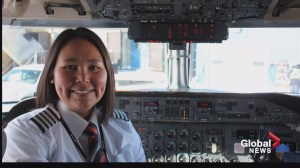 Female Inuk airline captain lands in Riverview to inspire young women to take up aviation