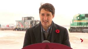 'I know things haven't been easy': Trudeau helps celebrate first train to Churchill