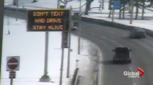 Toronto traffic signs using an emotional message to curb distracted driving