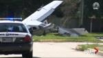Plane carrying DEA agents crash lands onto Texas street