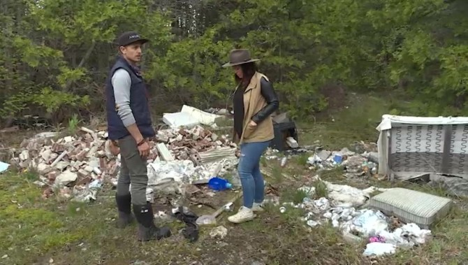 Mountains of illegally-discarded material takes over Kingston property