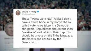 "Trump fires back: ""I don't have a racist bone in my body!"""