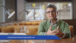 """Earls president talks about """"Conscious Sourcing"""" (01:35)"""