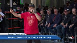 Raptors victory parade: Fred VanVleet gives honest speech to fans