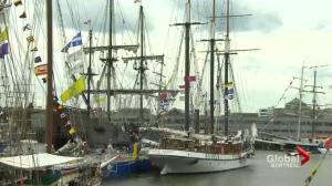 Tall ships sail into Quebec City