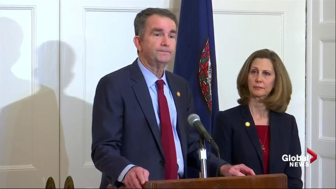Virginia governor consults with officials on whether to quit