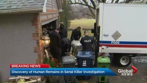 Discovery of human remains in serial killer investigation