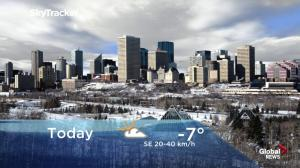 Edmonton early morning weather forecast: Wednesday, January 9, 2019