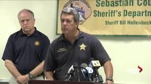 Sebastian County Sheriff Bill Hollenbeck provides timeline of event of officer shooting
