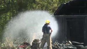 Shed fire in Bath