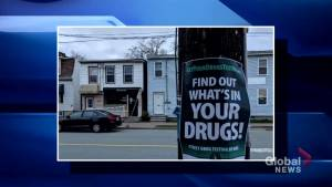 An organization in Halifax is encouraging drug-users to test their drug supply