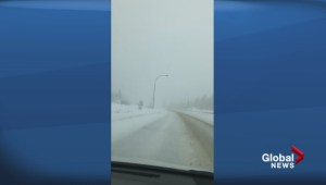 Road conditions along Coquihalla Highway