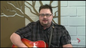 Peterborough musician Matt Graham plays The Morning Show