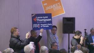 NDP Leader Jagmeet Singh meets rivals in byelection debate