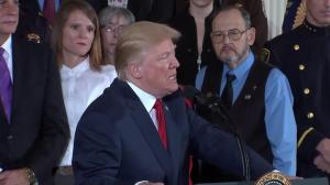 Trump makes joke about 'bad things he's done' during press conference announcing opioid health emergency