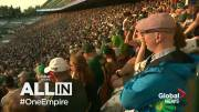 Play video: Global News All In: The Edmonton Eskimos game-day experience from the fans' perspective