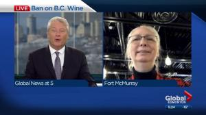 Fort McMurray restaurateur responds to B.C. wine ban