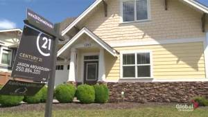 Housing sales have dropped in the Central Okanagan but prices have only taken a slight dip.