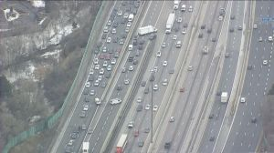 Heavy traffic delays on Highway 401 in North York following collision
