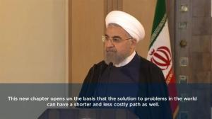 Iranian President Rouhani hails 'new chapter' in US/Iran relations following nuclear deal