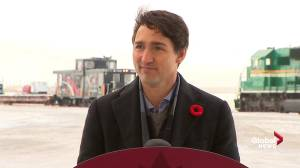 Justin Trudeau says he saw his first polar bear after leaving Churchill airport