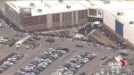 Shoppers line up to be first inside Edmonton area outlet mall