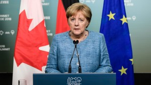Merkel says joint communique on trade coming from G7, but still gaps with U.S.