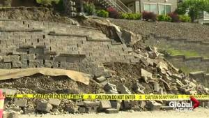 Retaining wall in Kelowna collapses