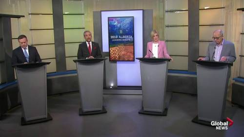 Health care debated during 2019 alberta leaders debate watch news videos online - Div position bottom ...