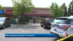 Man stabbed outside of Tim Hortons in Toronto's east end walks home