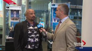 'It's always fun to come back here': Grant Fuhr in Edmonton for Oilers season opener at Rogers Place
