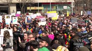 Thousands march in Montreal against secularism bill