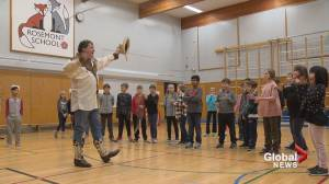70-year-old who's still clowning around visits Calgary school (01:52)