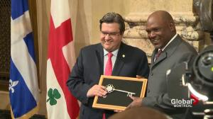 Former Montreal Expos player Tim Raines given key to city