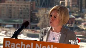 Notley announces her government would build major reservoir upstream of Calgary