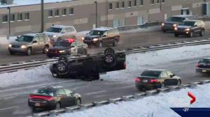 Snow-covered roads cause multiple collisions on Calgary streets