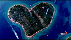 Croatian fans light up island shaped like a heart in support of World Cup team