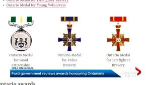 Doug Ford government reviews awards honouring Ontarians